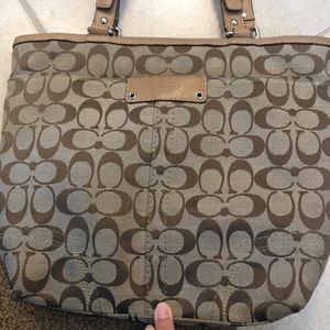 Coach purse in tan